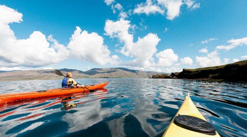 The kayaking fun and serenity